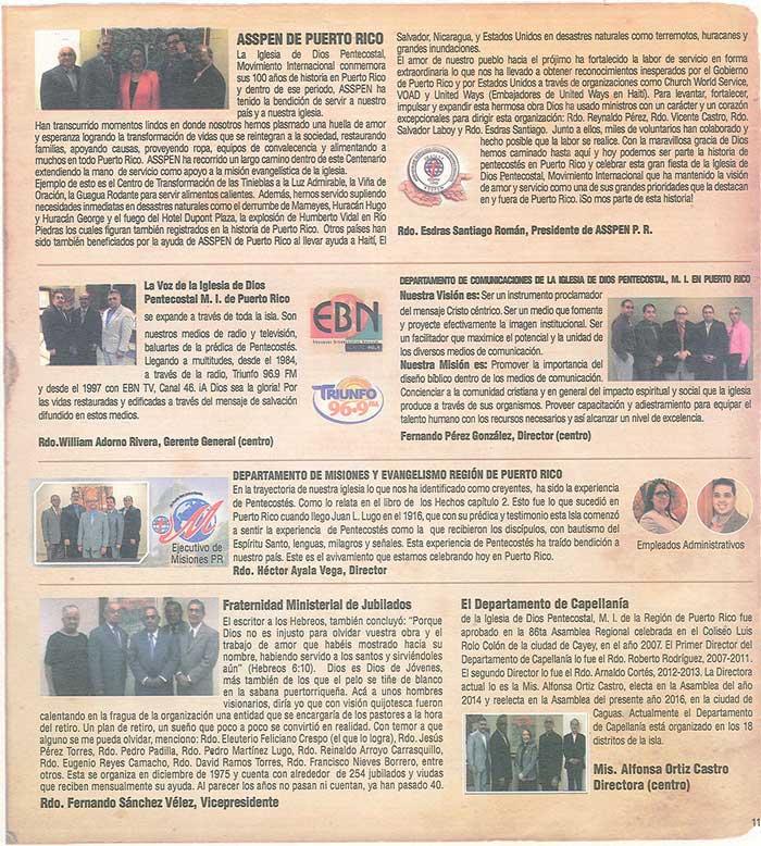Periodico 100 Años de Pentecostes 1916 2016 Page 11