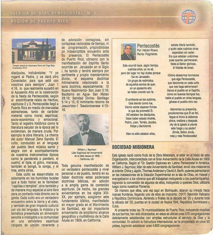 Periodico 100 Años de Pentecostes 1916 2016 Page 7
