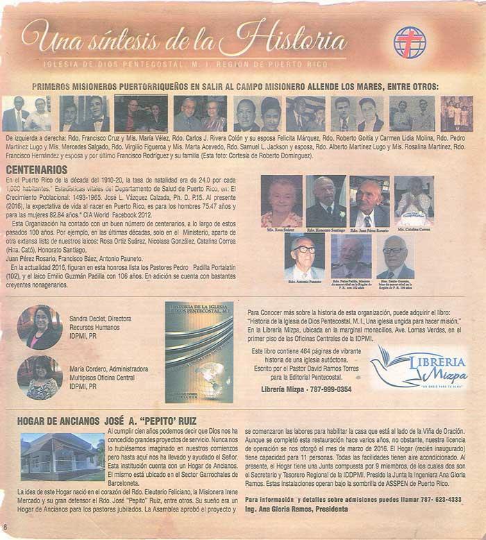 Periodico 100 Años de Pentecostes 1916 2016 Page 8
