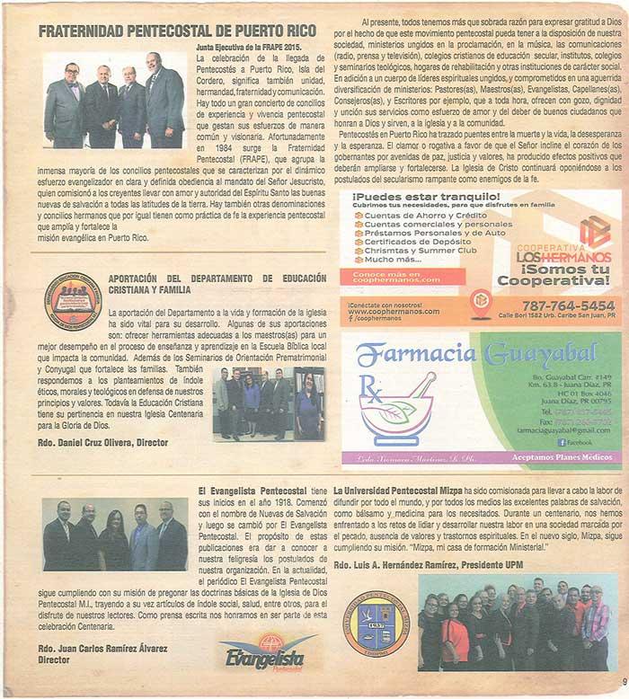Periodico 100 Años de Pentecostes 1916 2016 Page 9