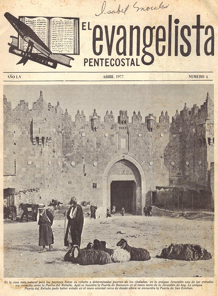 El Evangelista Pentecostal Abril 1977 Pagina 1