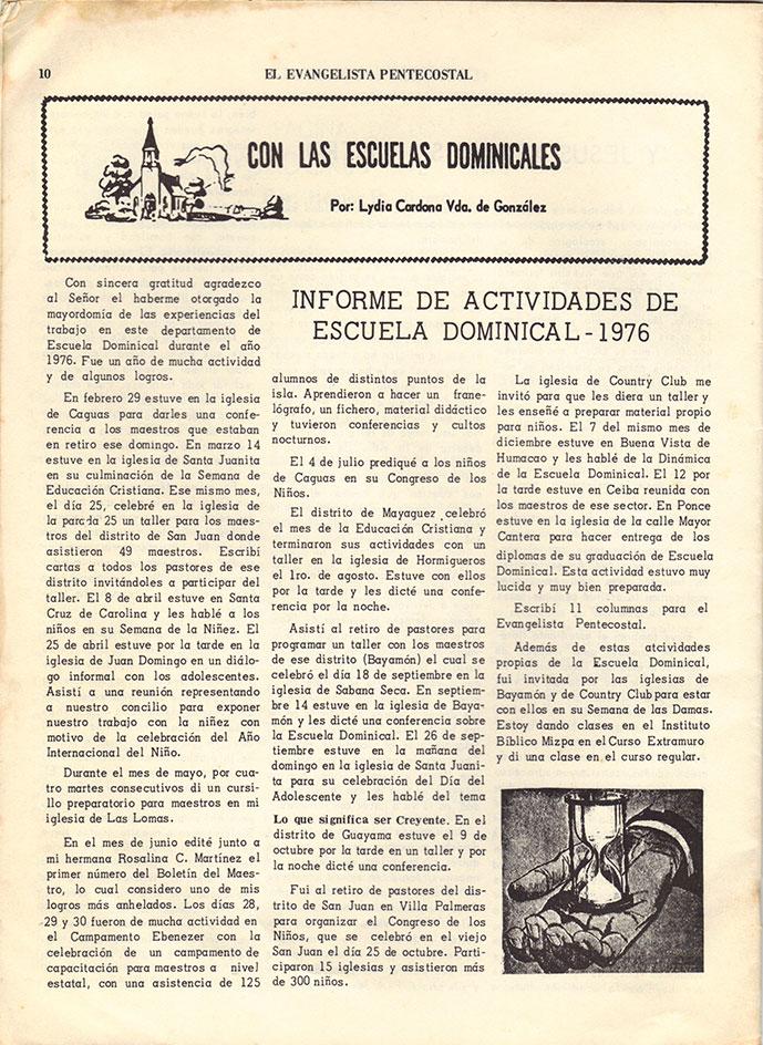 El Evangelista Pentecostal Abril 1977 Pagina 10