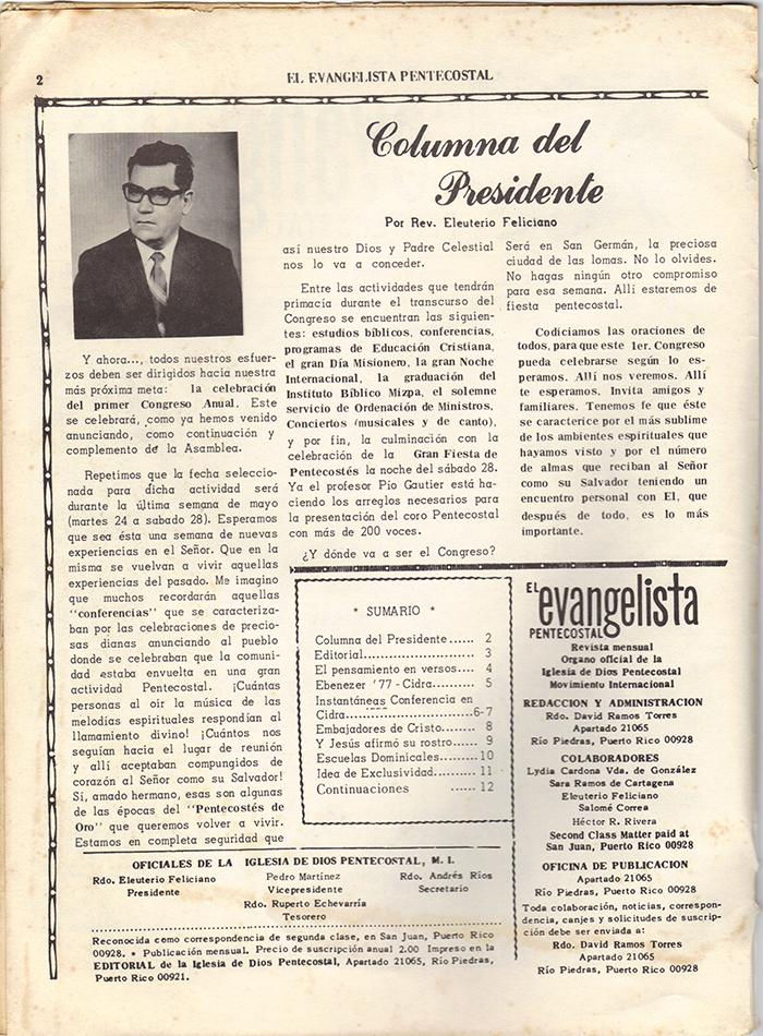 El Evangelista Pentecostal Abril 1977 Pagina 2