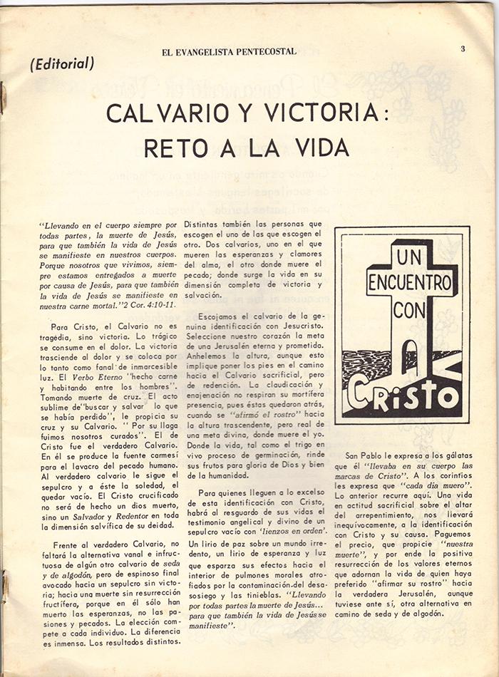 El Evangelista Pentecostal Abril 1977 Pagina 3