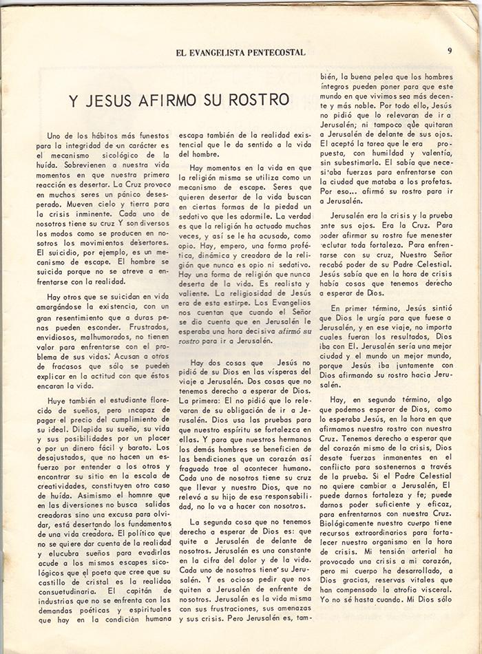 El Evangelista Pentecostal Abril 1977 Pagina 9