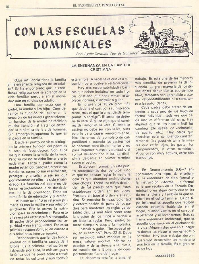 El evangelista Pentecostal (agosto 1978) #8 pagina 10