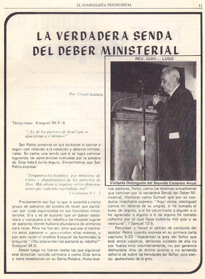 El evangelista Pentecostal (agosto 1978) #8 pagina 11