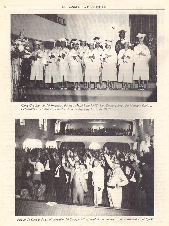 El evangelista Pentecostal (agosto 1978) #8 pagina 14