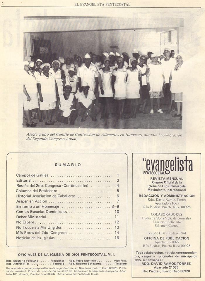 El evangelista Pentecostal (agosto 1978) #8 pagina 2