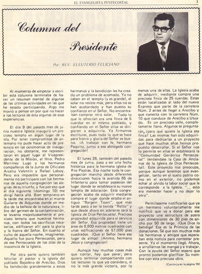 El evangelista Pentecostal (agosto 1978) #8 pagina 5