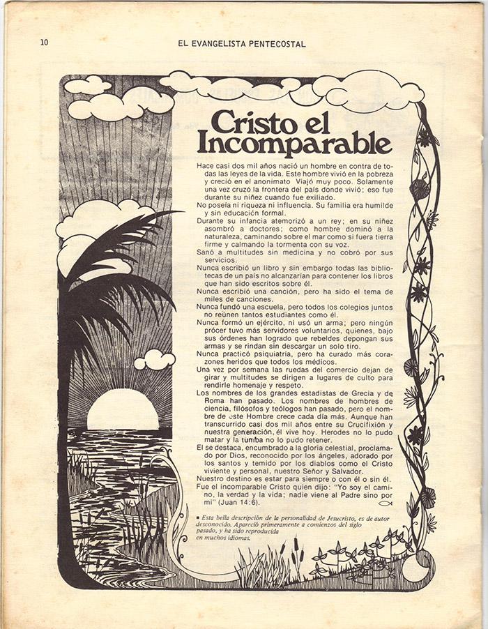 El Evangelista Pentecostal Diciembre 1977 Pagina 10