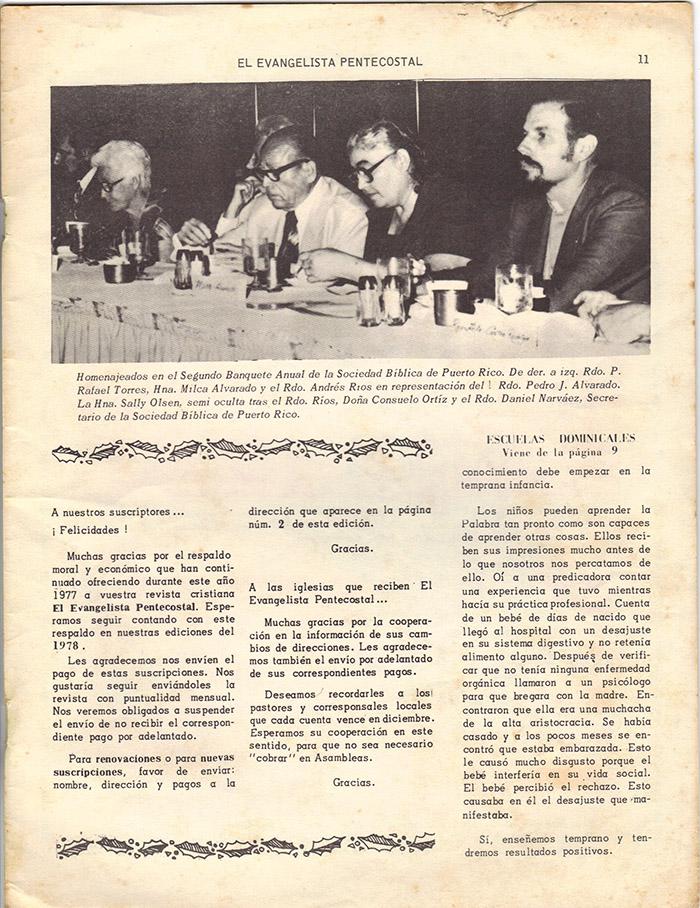El Evangelista Pentecostal Diciembre 1977 Pagina 12
