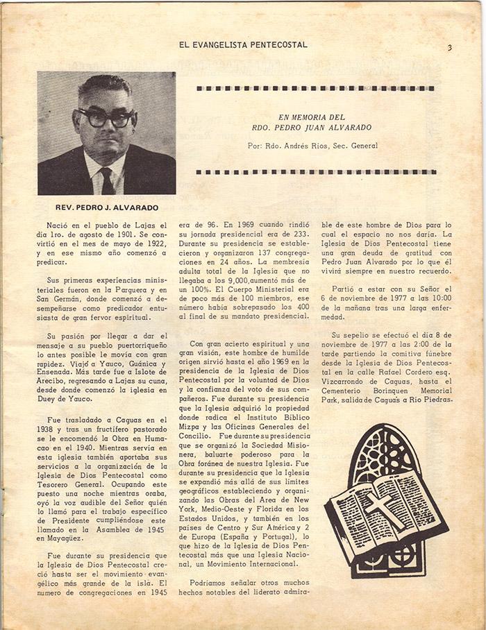 El Evangelista Pentecostal Diciembre 1977 Pagina 3