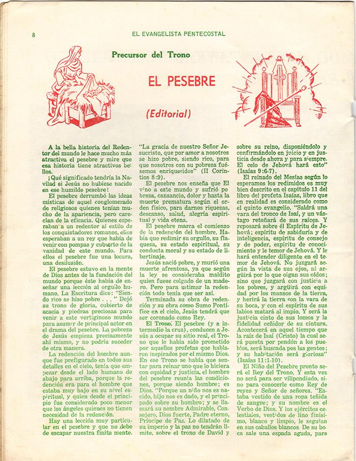 El Evangelista Pentecostal Diciembre 1977 Pagina 8