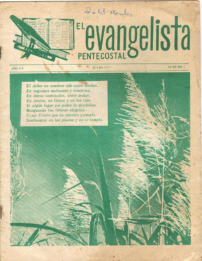 El Evangelista Pentecostal (Julio 1977)-#7 Página 1