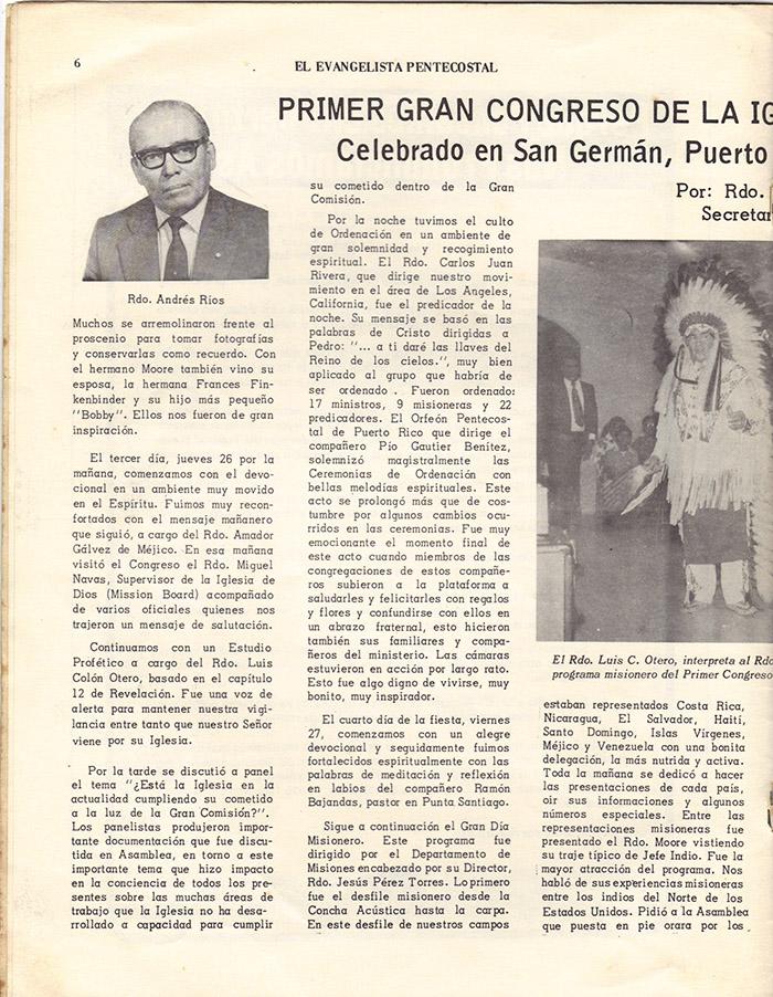 El Evangelista Pentecostal (Julio 1977)-#7 Página 6