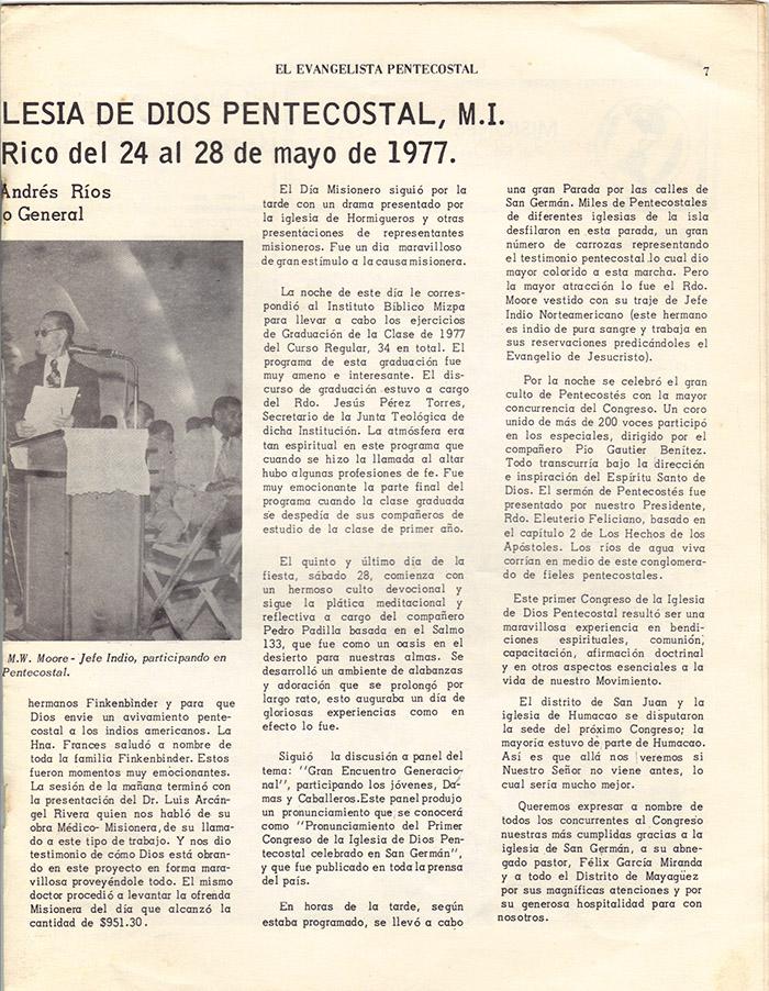 El Evangelista Pentecostal (Julio 1977)-#7 Página 7
