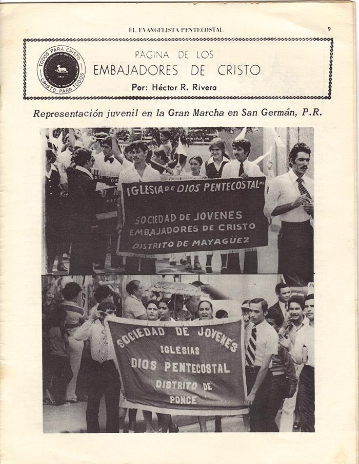 El Evangelista Pentecostal (Julio 1977)-#7 Página 9