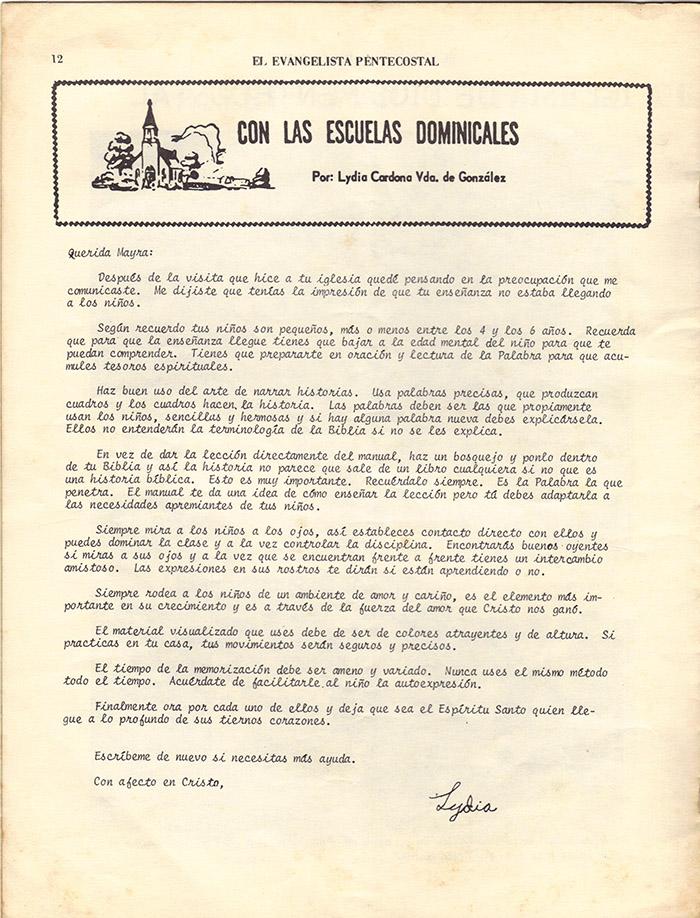 El Evangelista Pentecostal (Junio 1977)-#6 Página 10