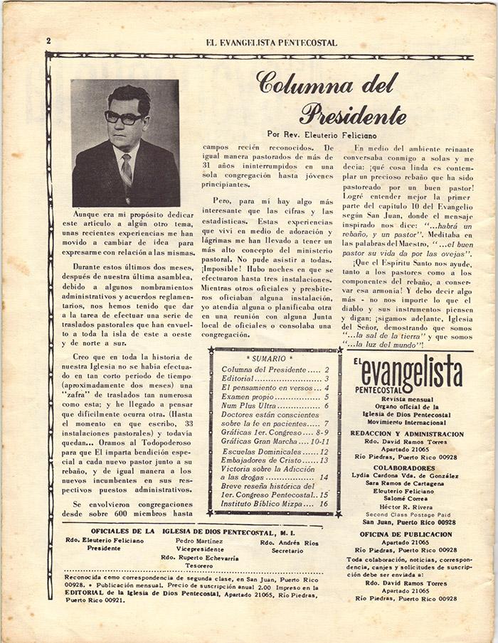 El Evangelista Pentecostal (Junio 1977)-#6 Página 2