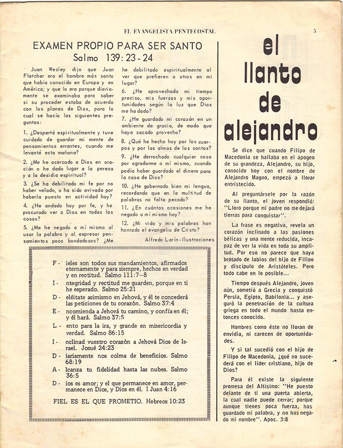 El Evangelista Pentecostal (Junio 1977)-#6 Página 3