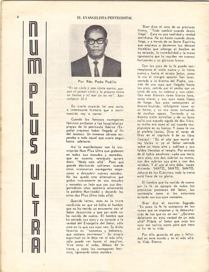 El Evangelista Pentecostal (Junio 1977)-#6 Página 4