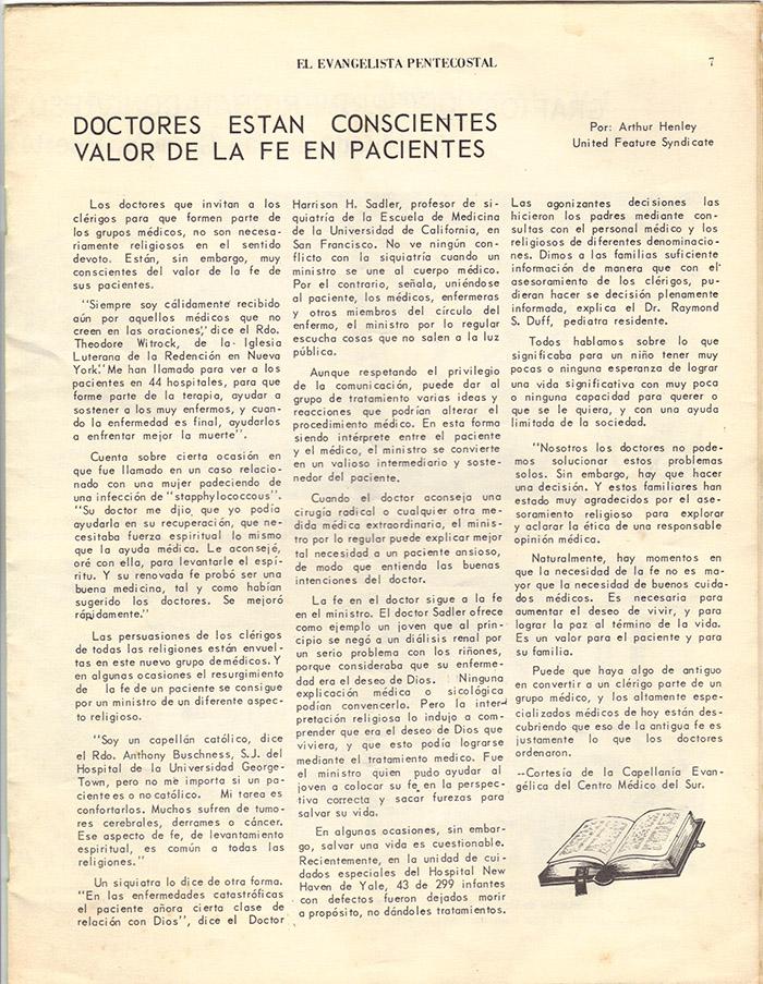 El Evangelista Pentecostal (Junio 1977)-#6 Página 5