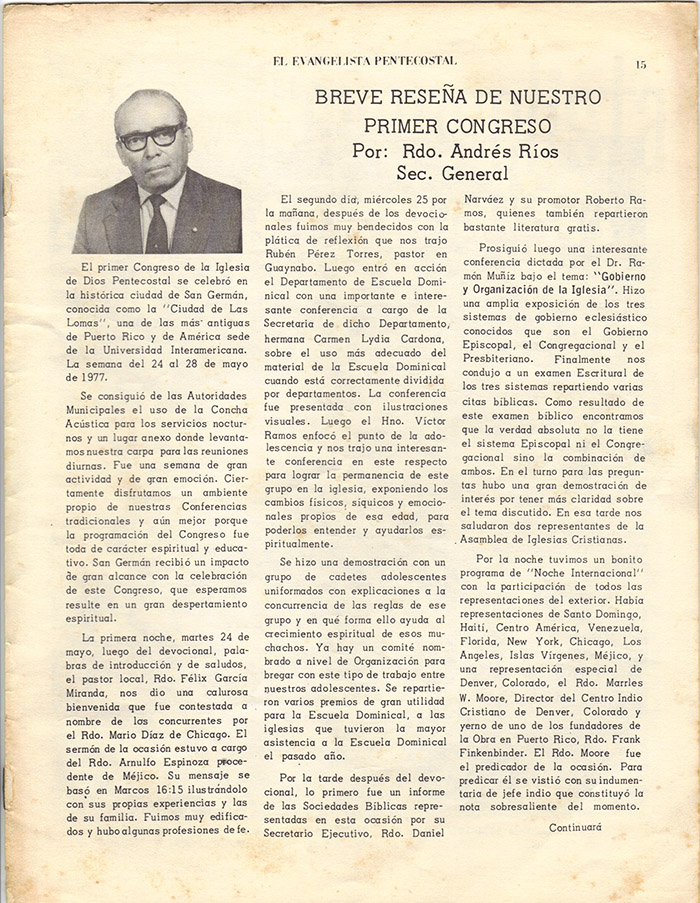 El Evangelista Pentecostal (Junio 1977)-#6 Página12