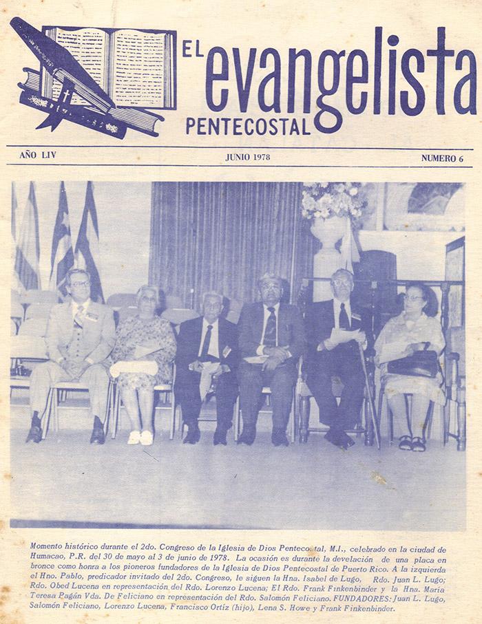 El Evangelista Pentecostal (Junio 1978)-#6 Parte 2 Página 1