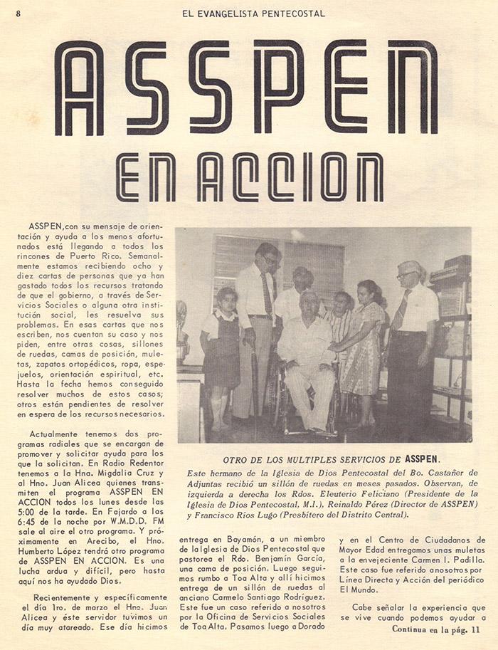 El Evangelista Pentecostal (Junio 1978)-#6 Parte 2 Página 8