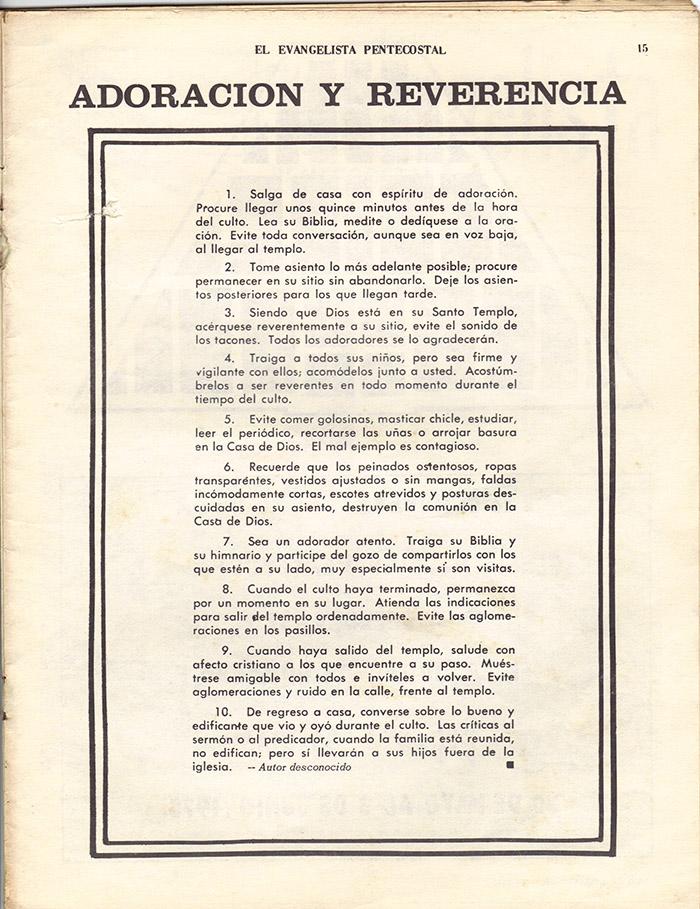 El Evangelista Pentecostal (Mayo 1978)-#4 Página 15