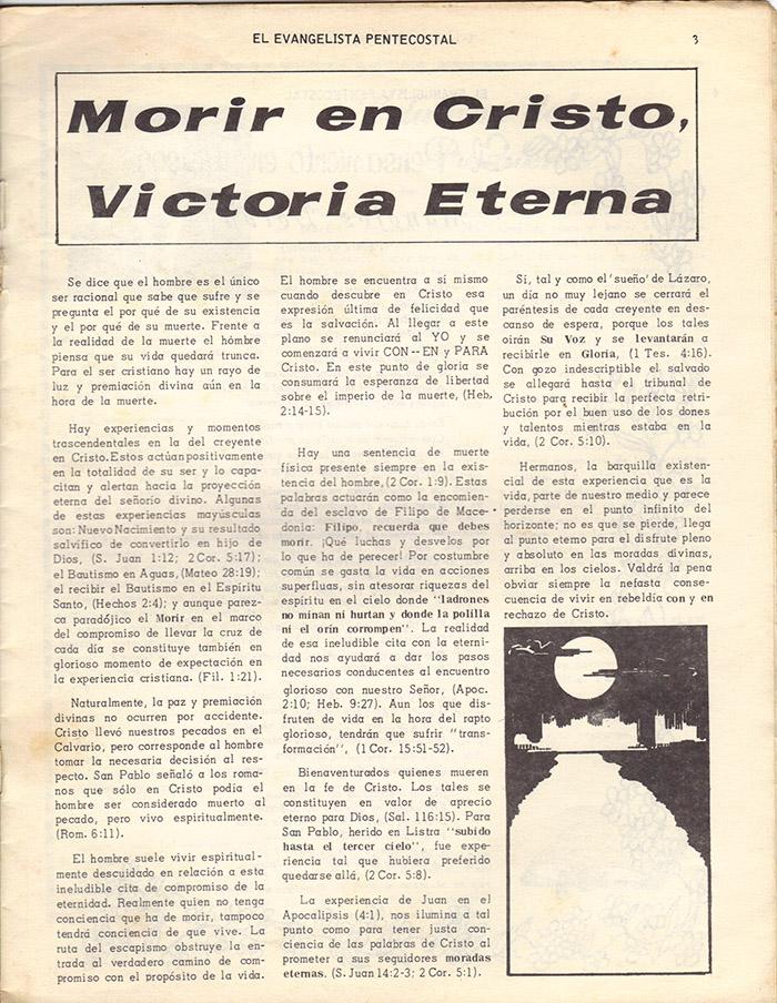 El Evangelista Pentecostal (Mayo 1978)-#4 Página 3