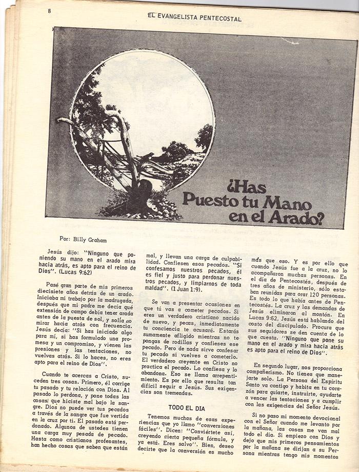 El Evangelista Pentecostal (Mayo 1978)-#4 Página 8