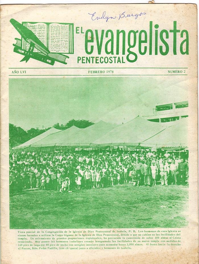 El evangelista Pentecostal (feb 1978)-#2 pagina 1