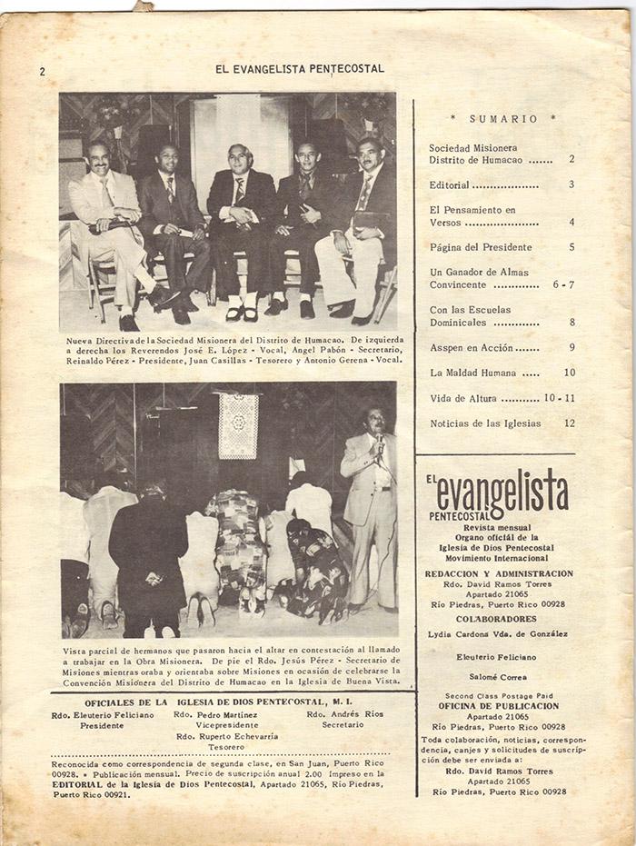 El evangelista Pentecostal (feb 1978)-#2 pagina 2