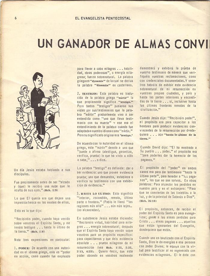 El evangelista Pentecostal (feb 1978)-#2 pagina 6