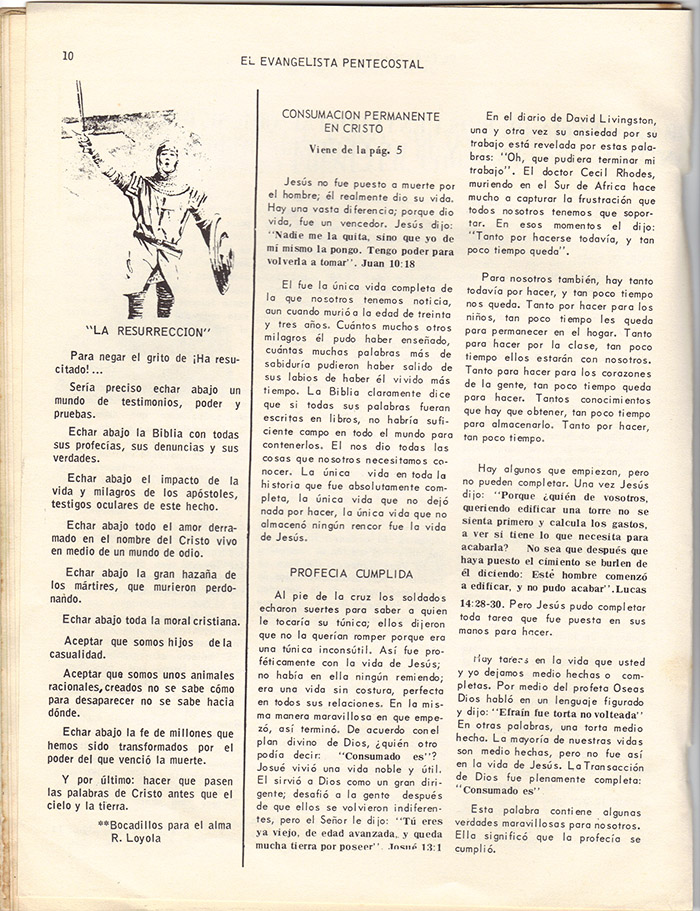 El evangelista Pentecostal (marzo 1978)-#3 pagina 10