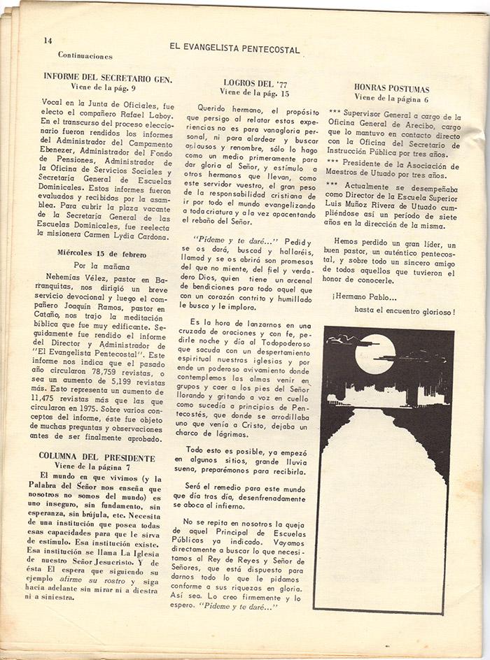 El evangelista Pentecostal (marzo 1978)-#3 pagina 14