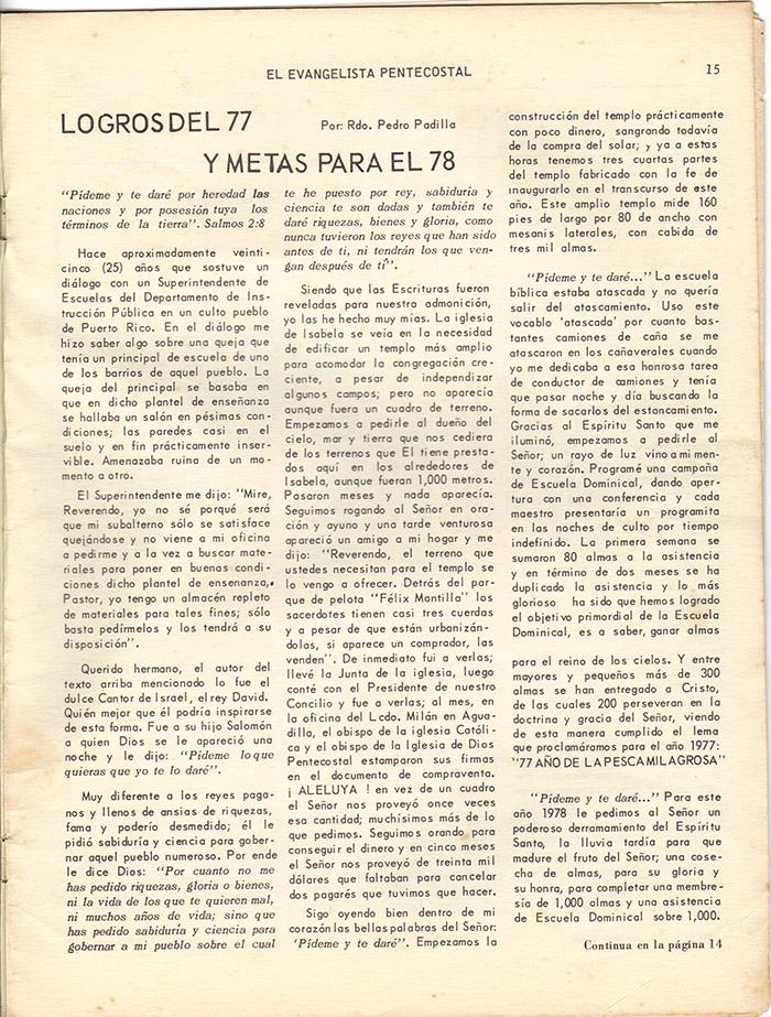 El evangelista Pentecostal (marzo 1978)-#3 pagina 15