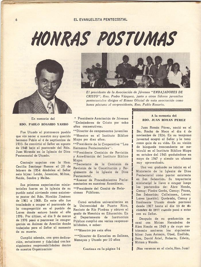 El evangelista Pentecostal (marzo 1978)-#3 pagina 6