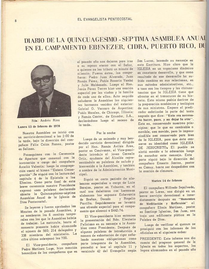 El evangelista Pentecostal (marzo 1978)-#3 pagina 8