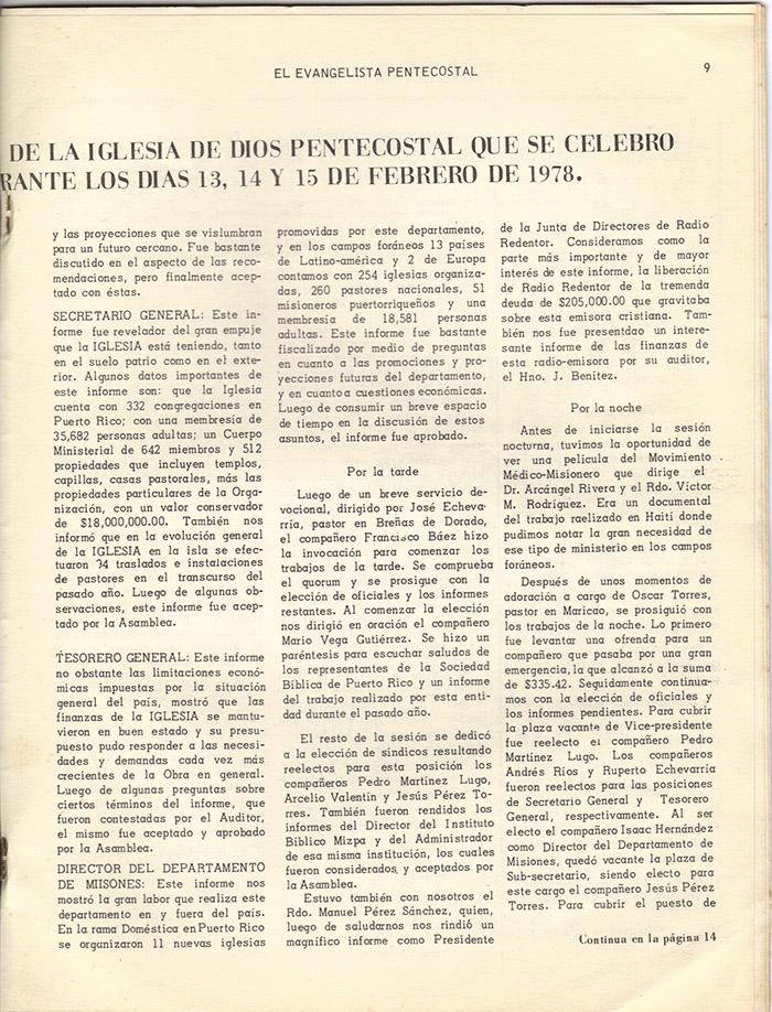 El evangelista Pentecostal (marzo 1978)-#3 pagina 9