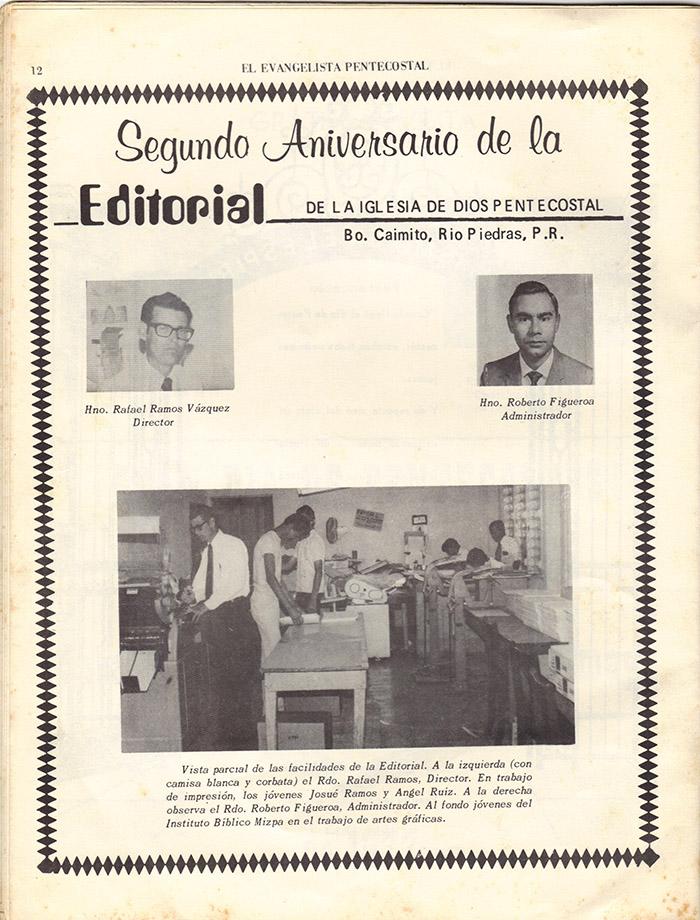 El Evangelista Pentecostal (Mayo 1977)-#5 Página 10
