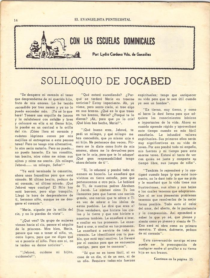 El Evangelista Pentecostal (Mayo 1977)-#5 Página 12