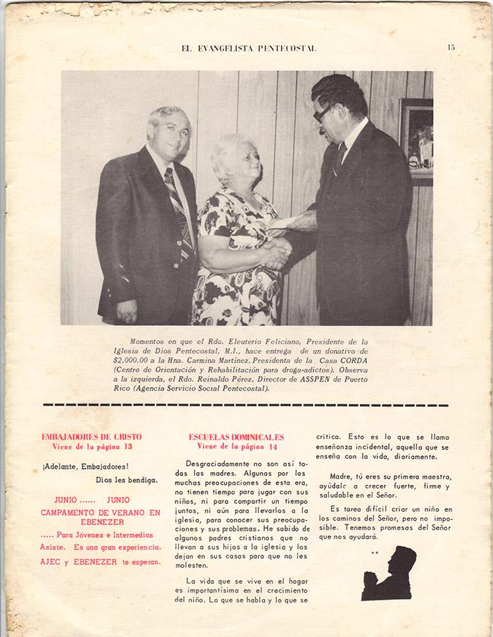 El Evangelista Pentecostal (Mayo 1977)-#5 Página 13