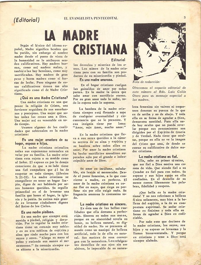 El Evangelista Pentecostal (Mayo 1977)-#5 Página 3