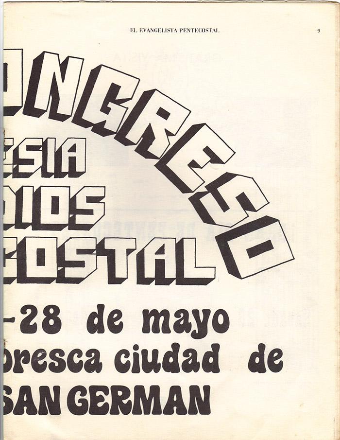 El Evangelista Pentecostal (Mayo 1977)-#5 Página 7