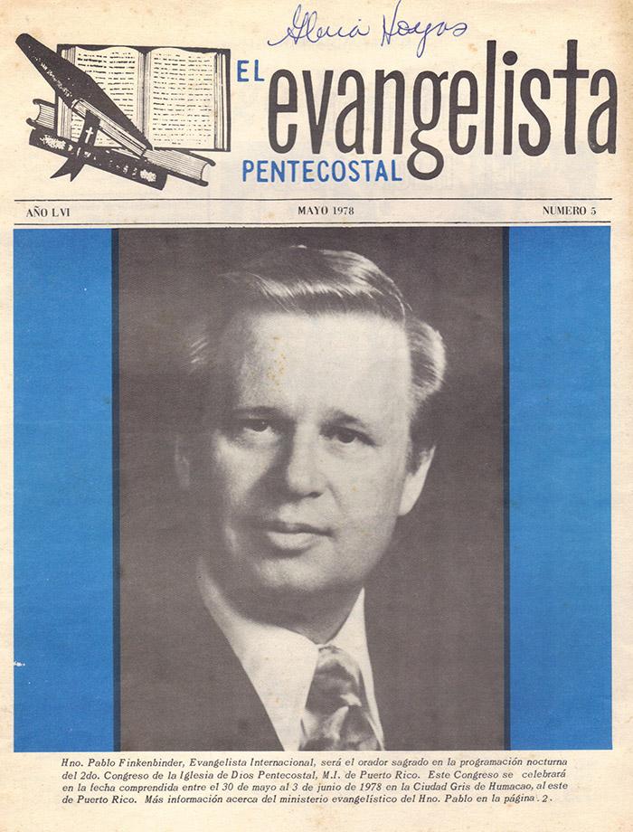 El Evangelista Pentecostal (Mayo 1978)-#5 parte 2 Página 1