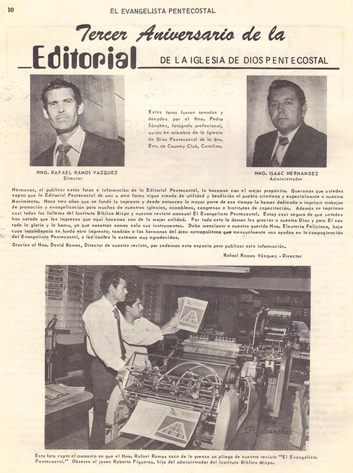 El Evangelista Pentecostal (Mayo 1978)-#5 parte 2 Página 10