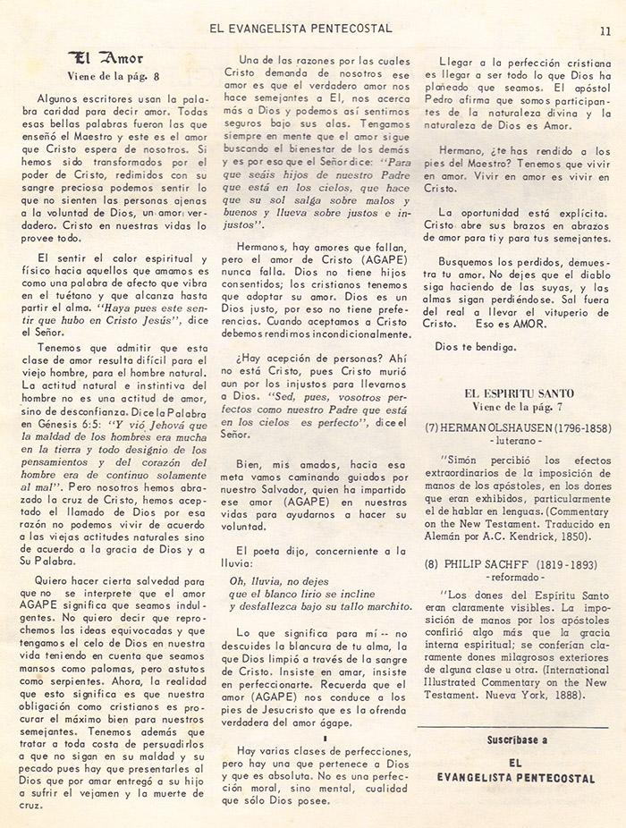 El Evangelista Pentecostal (Mayo 1978)-#5 parte 2 Página 11